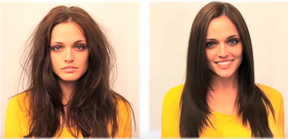 Antes y después Agave healing oil
