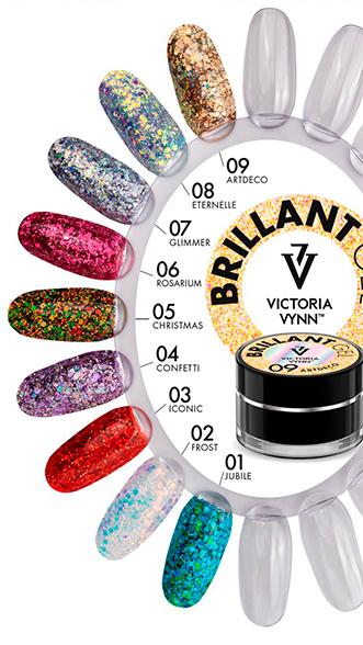 Brilliant Gel Victoria Vynn nail art carta de colores