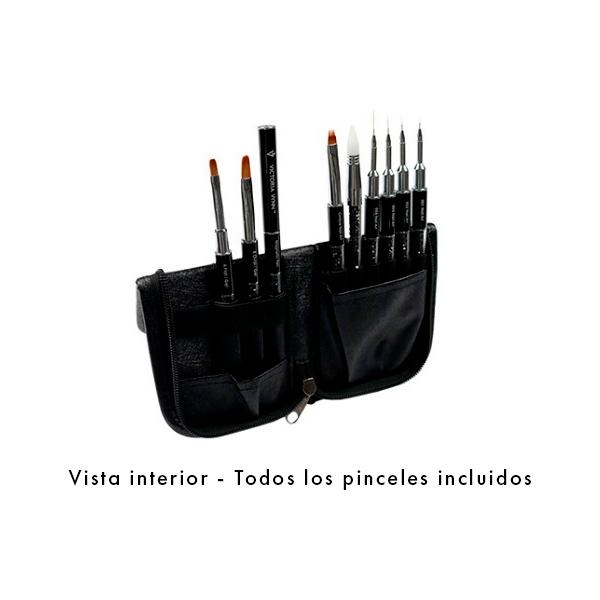 Estuche para pinceles Victoria Vynn Brush Case - vacío - vista interior