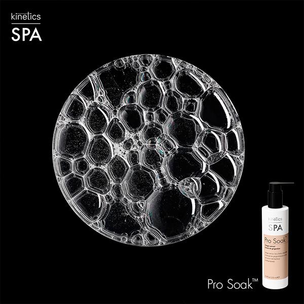 Pro Soak jabón para manicura Kinetics - textura negro