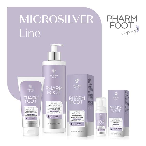 Línea Microsilver, Pharm Foot, línea de pedicura de Victoria Vynn