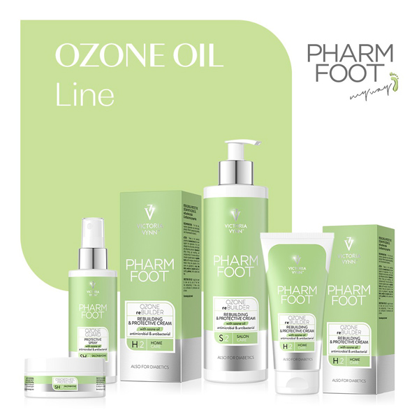 Línea Ozone Oil, Pharm Foot, línea de pedicura de Victoria Vynn
