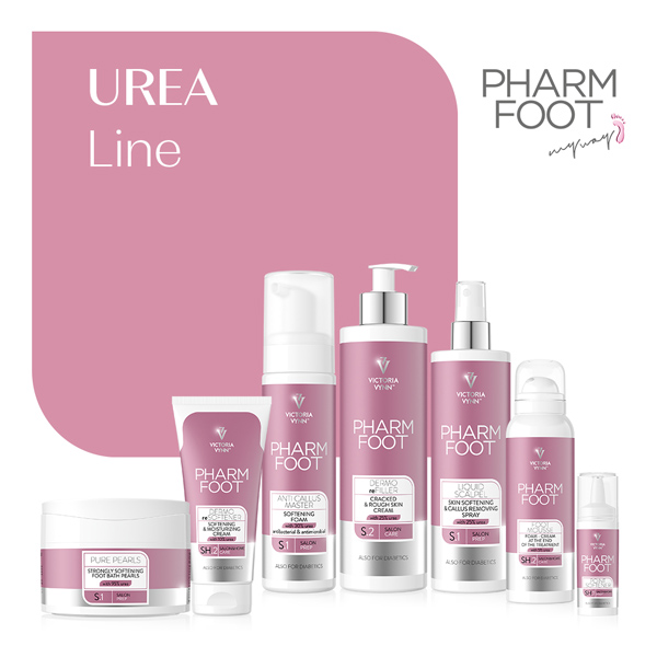Línea Urea, Pharm Foot, línea de pedicura de Victoria Vynn