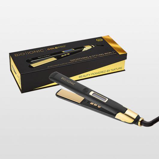 Plancha Gold Styling Iron de Bio Ionic - plancha iónica para el pelo peluquería 03