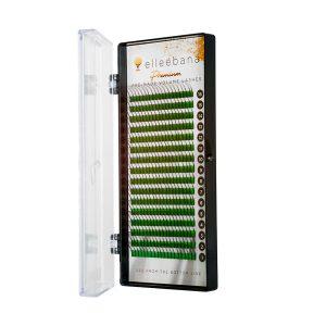 Caja de extensiones de pestañas Premium PBT 2D / 3D Premade