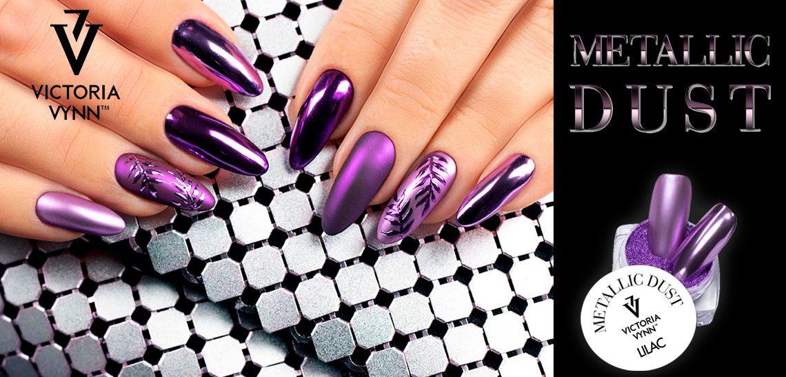 Metallic Dust diseño de uñas efecto metal Victoria Vynn
